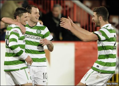 Aberdeen v Celtic - Celtic's Anthony Stokes celebrates his goal