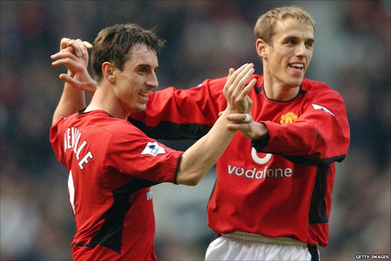 gary neville phil relationship problems