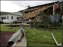 House destroyed by Cyclone Yasi in Tully, Australia