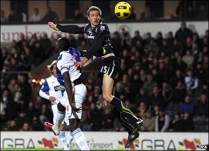 Blackburn v Tottenham - Peter Crouch scores his goal