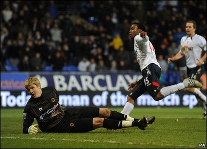 Bolton v Wolves - Daniel Sturridge scores the only goal of the game