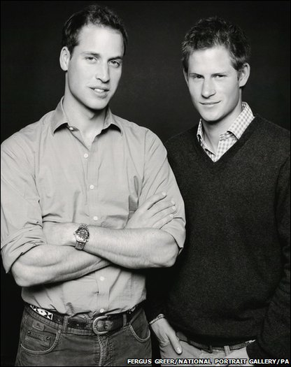 Previously unseen photo of Prince William and Prince Harry is going on show at the National Portrait Gallery in London