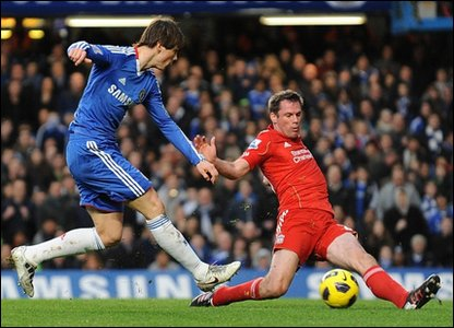 Fernando Torres and Jamie Carragher
