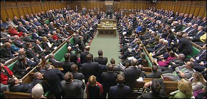 General view of the House of Commons in session