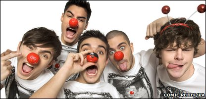 Music group The Wanted who'll be releasing 2011 Comic Relief single Gold Forever.