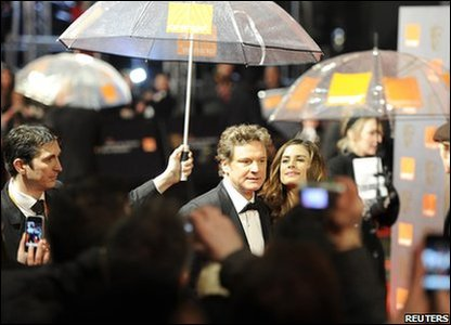 Actor Colin Firth who won the award for best actor for the film The King's Speech.