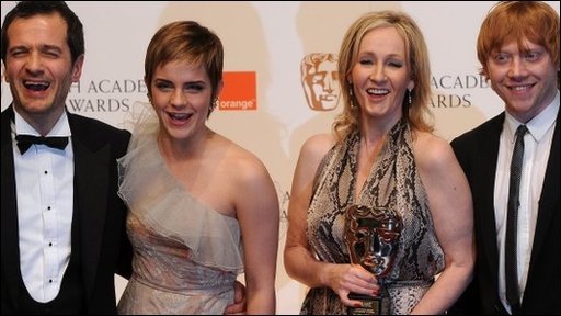 Harry Potter stars receive a Bafta