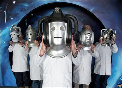 Cybermen heads at The Doctor Who Experience exhibition