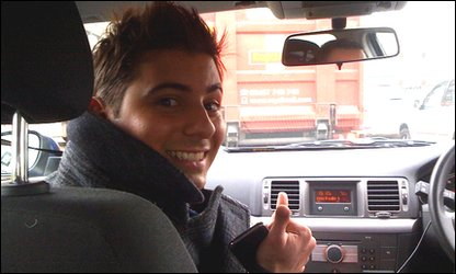 Ricky on his way to the Brit Awards 2011