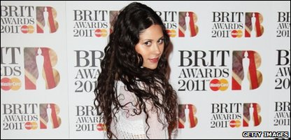 Eliza Doolittle arriving at the Brit Awards 2011