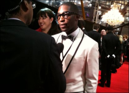 Tinie Tempah on the Brits red carpet