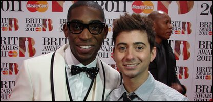 Ricky with Tinie Tempah at the 2011 Brit Awards at London's O2 arena