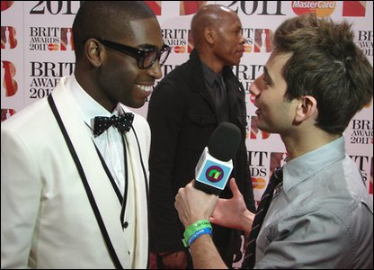 Brits: Tinie Tempah with Ricky at the Brit Awards 2011