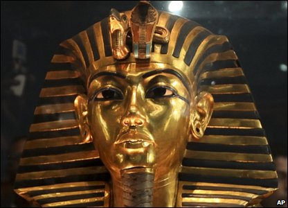 Tutankhamun funeral mask at the Egypt Museum where some missing artefacts have been found