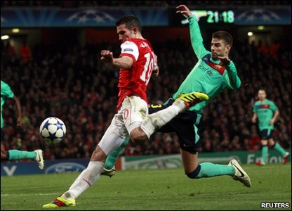 Robin van Persie in action for Arsenal