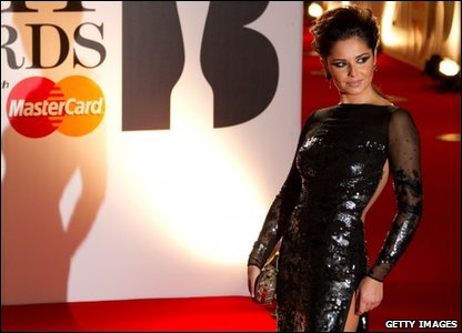 Brits: Cheryl Cole at the Brit Awards 2011