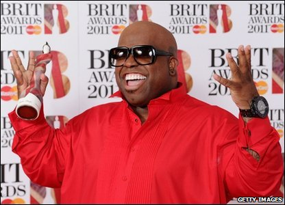 Brits: Cee Lo Green with his awards at the Brit Awards 2011