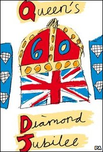 Katherine's winning emblem design for the Queen's official 2012 Diamond Jubilee