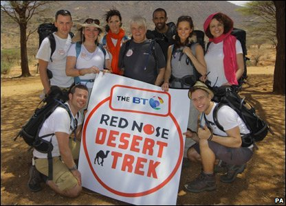Group before they set off for Red Nose Desert Trek for Comic Relief
