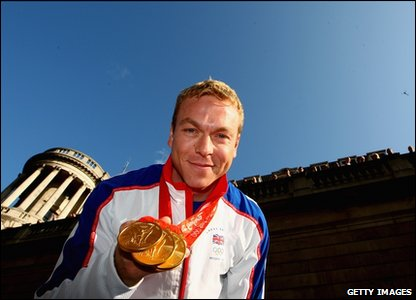 British cyclist Sir Chris Hoy