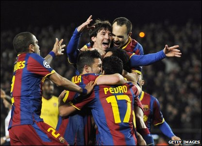 Barcelona knock out Arsenal
