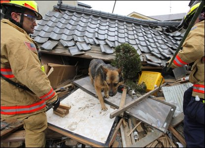 U.S rescue teams in Japan