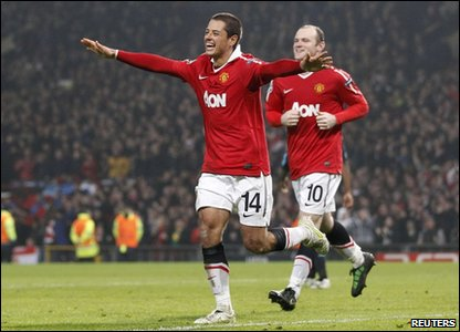 Javier Hernandez and Wayne Rooney