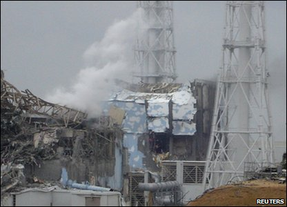 A power station in Fukushima was damaged by the earthquake.
