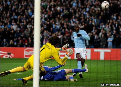 Mario Balotelli blasts over the bar