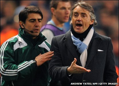 Roberto Mancini of Mancester City