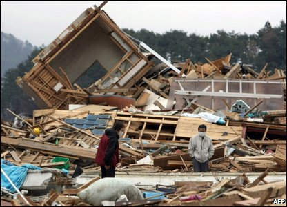 Earthquake survivors in Ishinomaki