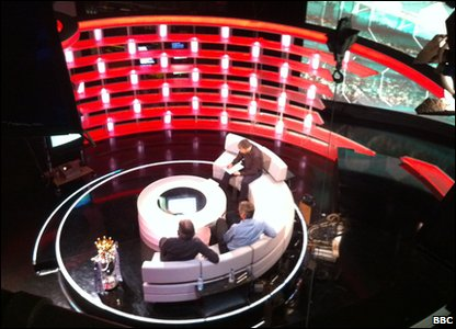 The Match of the Day studio from above