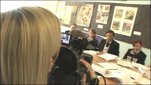 School taking part in BBC News School Report.