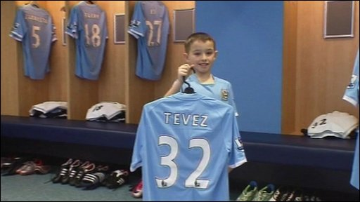 Manchester City fan Josh became his club's mascot for the day