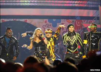 Nickelodeon Kids' Choice Awards 2011 - The Black Eyed Peas performing with host Jack Black