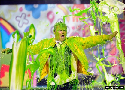 Nickelodeon Kids' Choice Awards 2011 - Host Jack Black gets slimed!