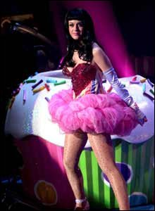 Katy Perry and the cupcake
