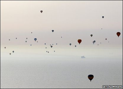 The balloons over the English Channel