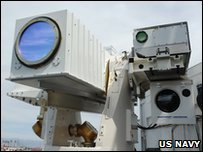 US Navy are using laser guns for the first time