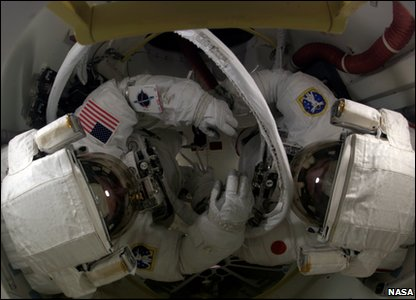 Astronaut in an airlock