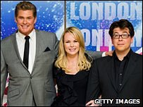 The new Britain's Got Talent judging panel - David Hasselhoff, Amanda Holden and Michael McIntyre