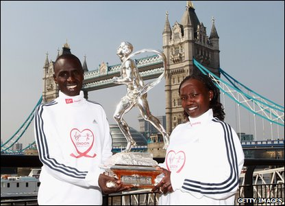 London Marathon winners Emmanuel Mutai and Mary Keitany