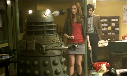 Amy Pond and the Doctor meet a Dalek