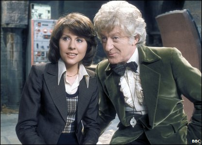 Elisabeth Sladen as Sarah Jane Smith and Jon Pertwee as The Doctor