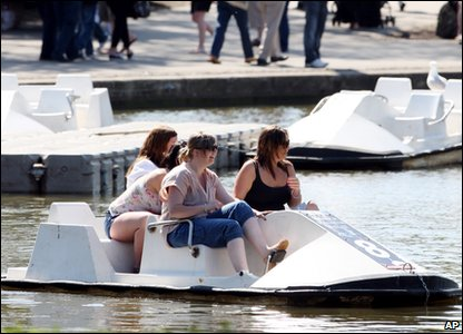 People enjoy a boat ride in South Shields