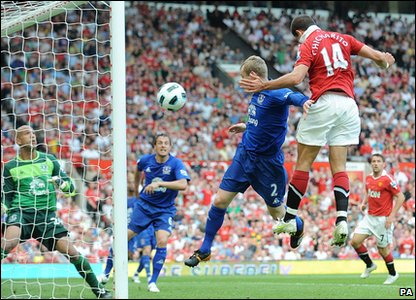Manchester United 1-0 Everton - Javier Hernandez scores the winning goal