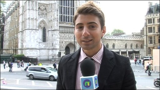 Ricky at Westminster Abbey