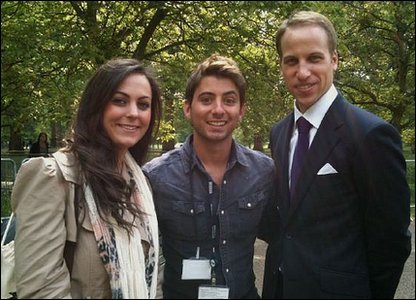 Ricky with Will and Kate lookalikes