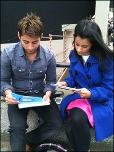Ricky and Sonali go through their scripts