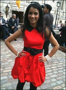 Sonali in her wedding outfit
